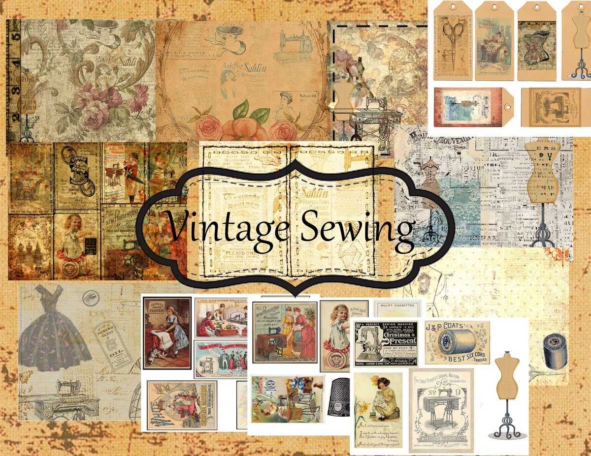 Excited to share the latest addition to my #etsy shop: Vintage sewing kit  Digital Junk journal mixed media collage #sewing #vintage #junkjournal #ephemera #tags https://etsy.me/30dYdg6pic.twitter.com/ZGP4Eozbs9