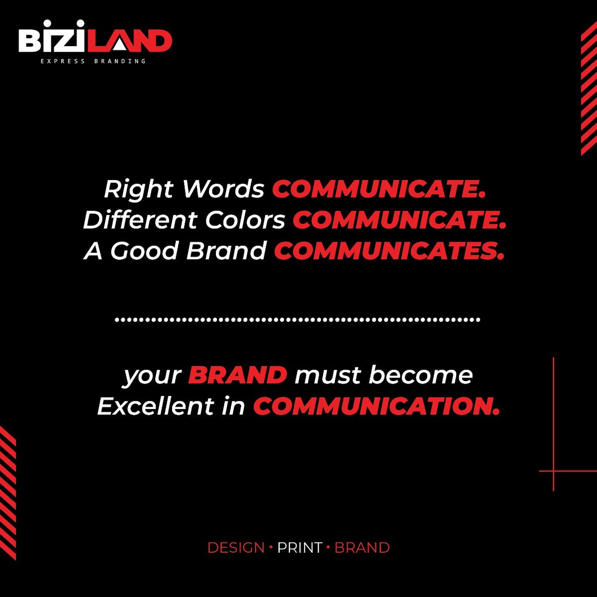 Communication is key while building a Strong Brand. Learn to communicate correctly.  #businesstips #branding #success #bizilandpic.twitter.com/qPEPz4ly65