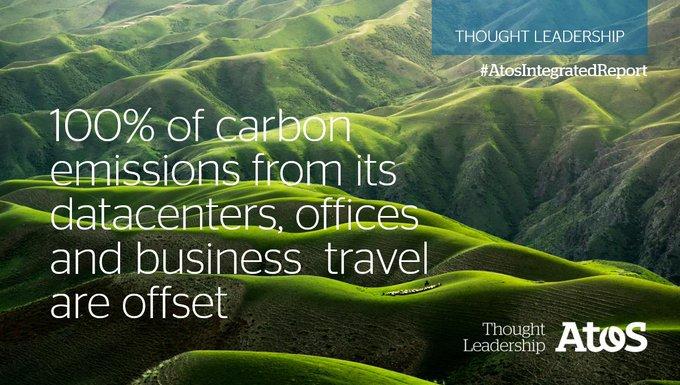⚖️ #Atos gleicht seine #CO2-Emissionen von Rechenzentren, Büros und Geschäftsreisen zu 100...