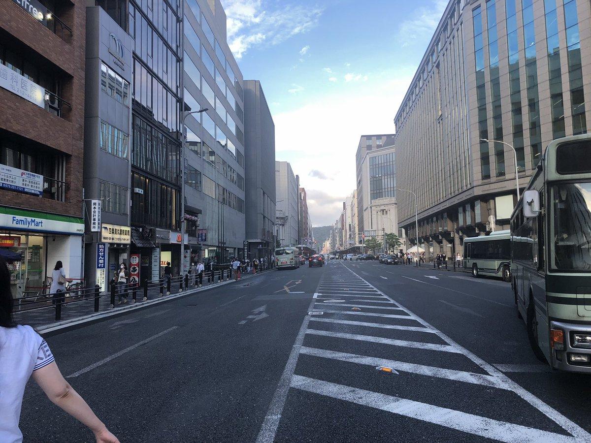 鉾のない月14日の京都四条烏丸生まれてはじめての光景。#京都人ならわかる話