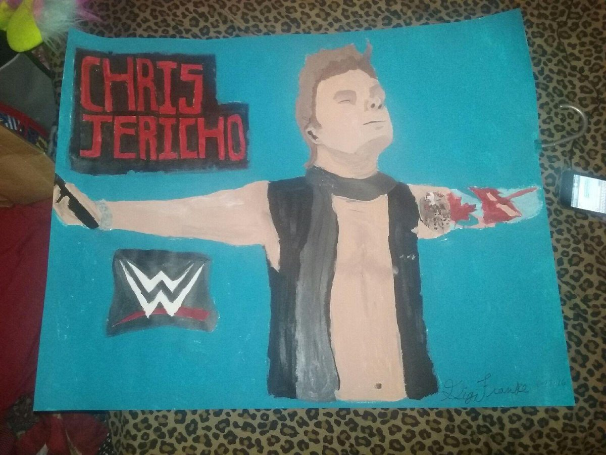 I'll never forget how my friend painted me this poster of @IAmJericho