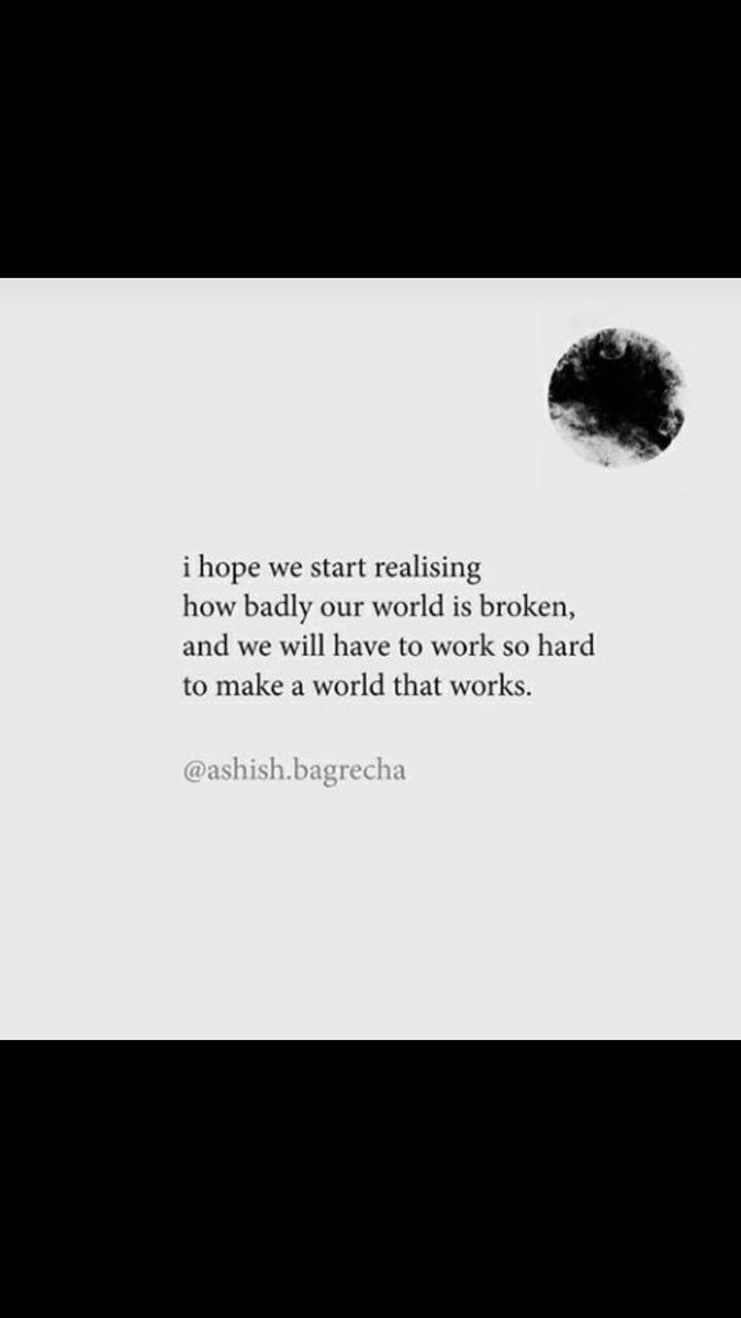 I hope we all realize how broken our world is right now and start working towards rebuilding a better world. We can make this world a better place together and we will. #tuesdayvibes  #TuesdayMotivation  #BuildBackBetter  #BetterTogether  @URajeshNaik @shubzsharma @BEENARAO1pic.twitter.com/zkYsPr7VmS