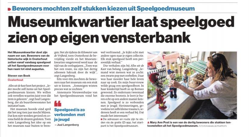 Museumkwartier laat speelgoed zien op eigen vensterbank #allesuitdekast #popupmuseum #museumkwartier #watzijnweweertrots #verhalen #wandeling #vensterbank   http://e-pages.dk/bndestem/11498…pic.twitter.com/zaGGUdMu7w