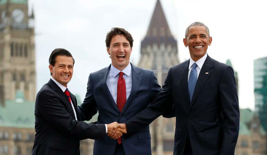 Peña Nieto: Estafa Maestra 8 mil millones de pesos  Justin Trudeau: Contrato a su familia por monto de 16 mil millones de pesos (700 millones de dólares)  Obama: Obama Gate, rápido y furioso  2 simularon muy bien, pero los 3 resultaron mega corruptos y uno ademas genocida mundial pic.twitter.com/uTjVIDZRCn