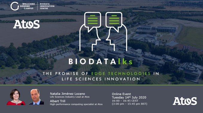 📢 Conéctate al evento en línea #BIODATAlks hoy a las 4 pm CEST y...