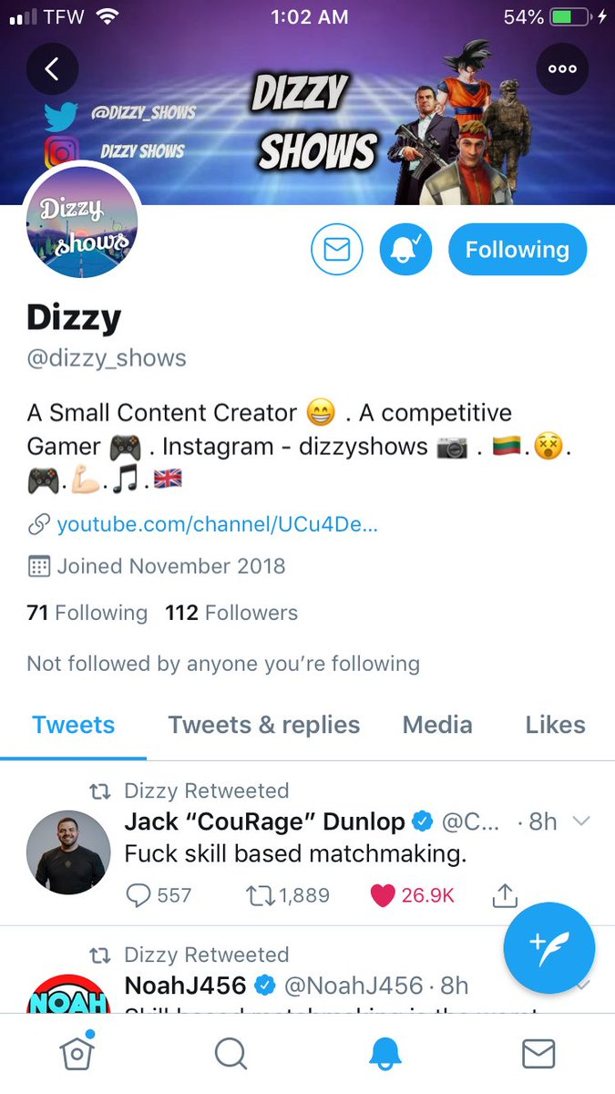 Follow @dizzy_shows great content especially if you love @FortniteGame #timein #fortnite #vbucks #captainamericafortnite #marvel #battleroyale #ninja #timthetatman #nickmercs #swagg #courage #couragejd #epicgames #ps5 #XboxOneX pic.twitter.com/gDwvyFBVC2