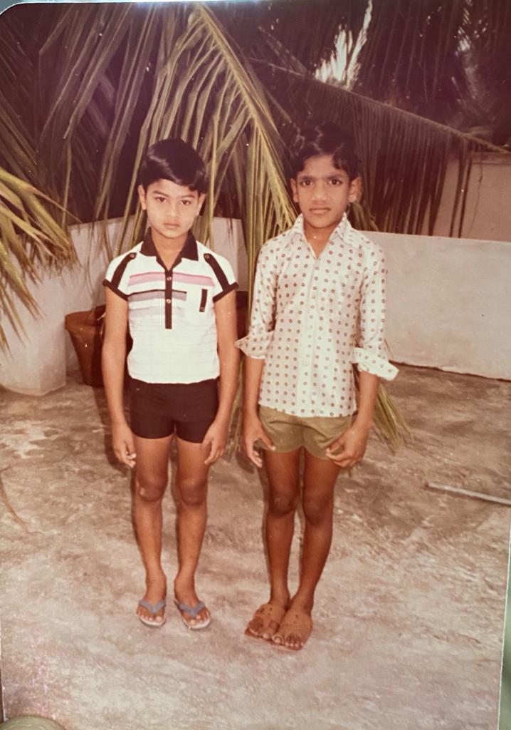 @NameisNani and this childhood pic of @isudheerbabu has a connection. Can you guess?  #SudheerBabu #Nani #Tollywood #TeluguFilmNagar pic.twitter.com/CulmcmwKaQ