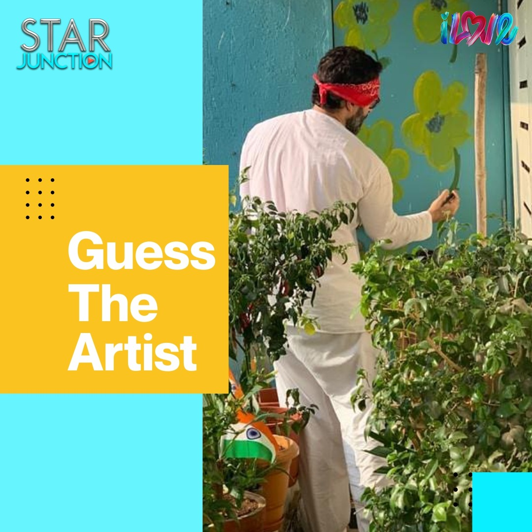 Can you guess the talented painter in the picture?   This actor with some Tashan is coming to #StarJunction today. Hint - He's also a #Nawaab! #Bollywood #MusicChannel #Romance #RomanticSongs #BollywoodMusic #BollywoodSongs #Movies #Music #GuessTheArtistpic.twitter.com/0IJhT6AwsL
