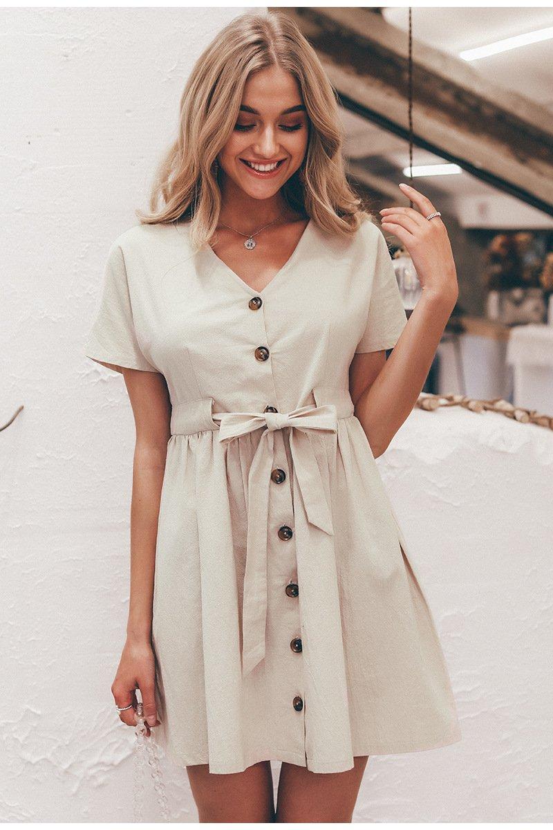 Vintage Button Short Summer Dress  ➤  https:// pooo.st/NoqZ0    <br>http://pic.twitter.com/Qn8FsCmBfe