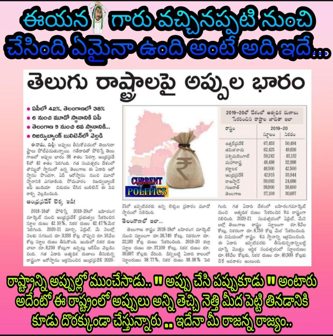 అప్పులు చేసి ఎవరి జీవితాలు ఉద్ధరించారో చెప్పాలి జగన్ రెడ్డి ...#jaganFailedCM #YSRCP #TDP #APWithAmaravati #TeluguIndiaHerald #TwitterTrends #TwitterTips #andhratelugu #corruption #YSRCpPaidBatch #YSRCPKills #bloodypolitics #TeluguDesamParty #TeluguFilmNagar pic.twitter.com/aT8LeTKy0Z