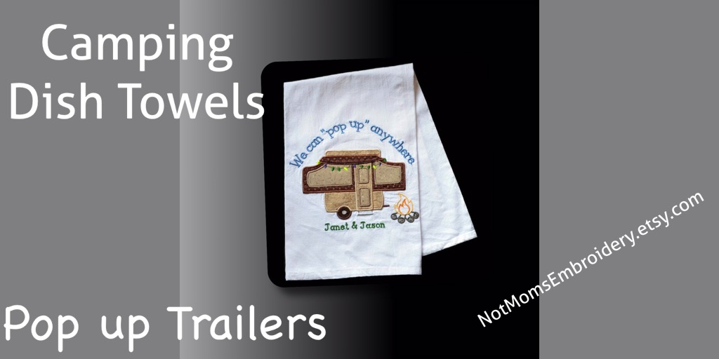 Custom Camping Dish Towel, Personalized RV Decor, Camper, Popup Camper Trailer, #pottiteam #etsymntt http://www.etsy.com/listing/239040879… popuptrailer popup camping dishtowel floursacktowel customtowel personalizedtowel traveltrailer campingaccessories camperaccessories pulltrailerpic.twitter.com/KIc1D7e6BW