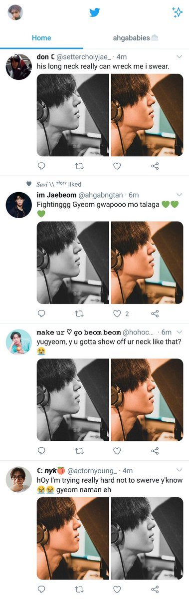 my tl is amazing one minute it's jackson the next you get spammed by yugyeom <br>http://pic.twitter.com/3swQnNIBUG