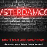 Image for the Tweet beginning: The AmsterdamCoin swap has been