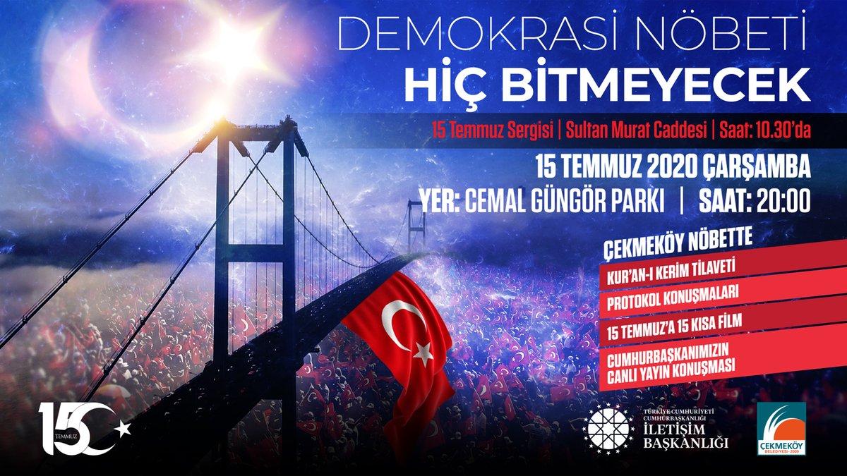Şehitlerimizi ve gazilerimizi dualarla anacağımız 15 Temmuz Demokrasi ve Milli Birlik Günü programlarımıza tüm halkımız davetlidir. https://t.co/vL7hzrJtzZ