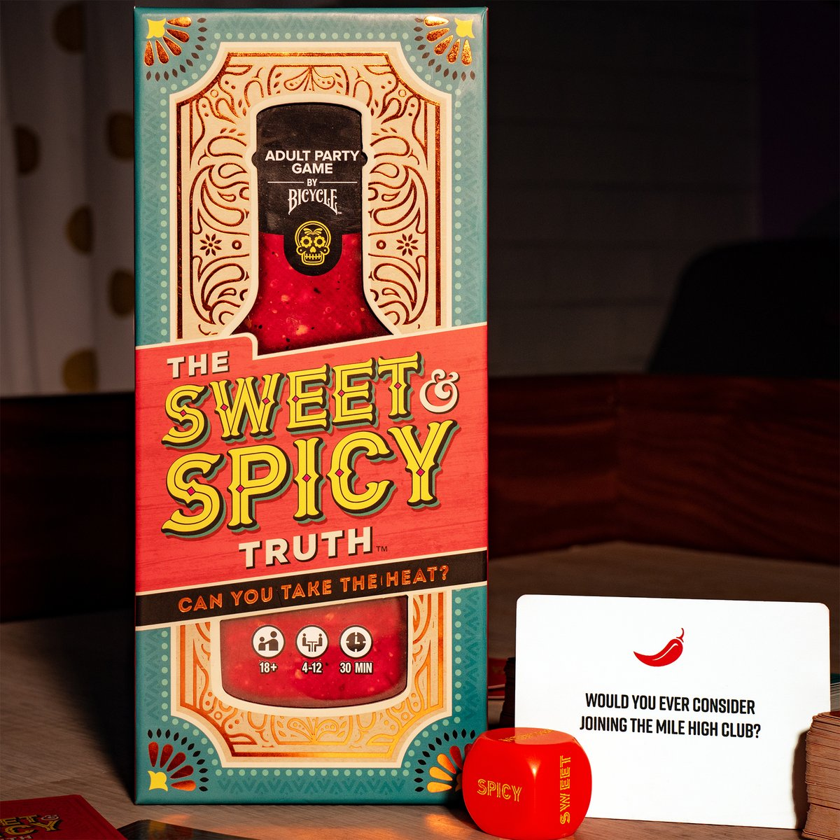 ♥️♠️♦️♣️ It's The Sweet & Spicy Truth!  Find out the truth about your friends in hilarious NEW adult party game, by Games By Bicycle!   https://t.co/tGCuIvvMFN  #boardgames #boardgamegeek #boardgamephotography #cardgames #gametime #gamenight #sweet #spicy #tabletopgames #USPCC https://t.co/1B61XB79fy