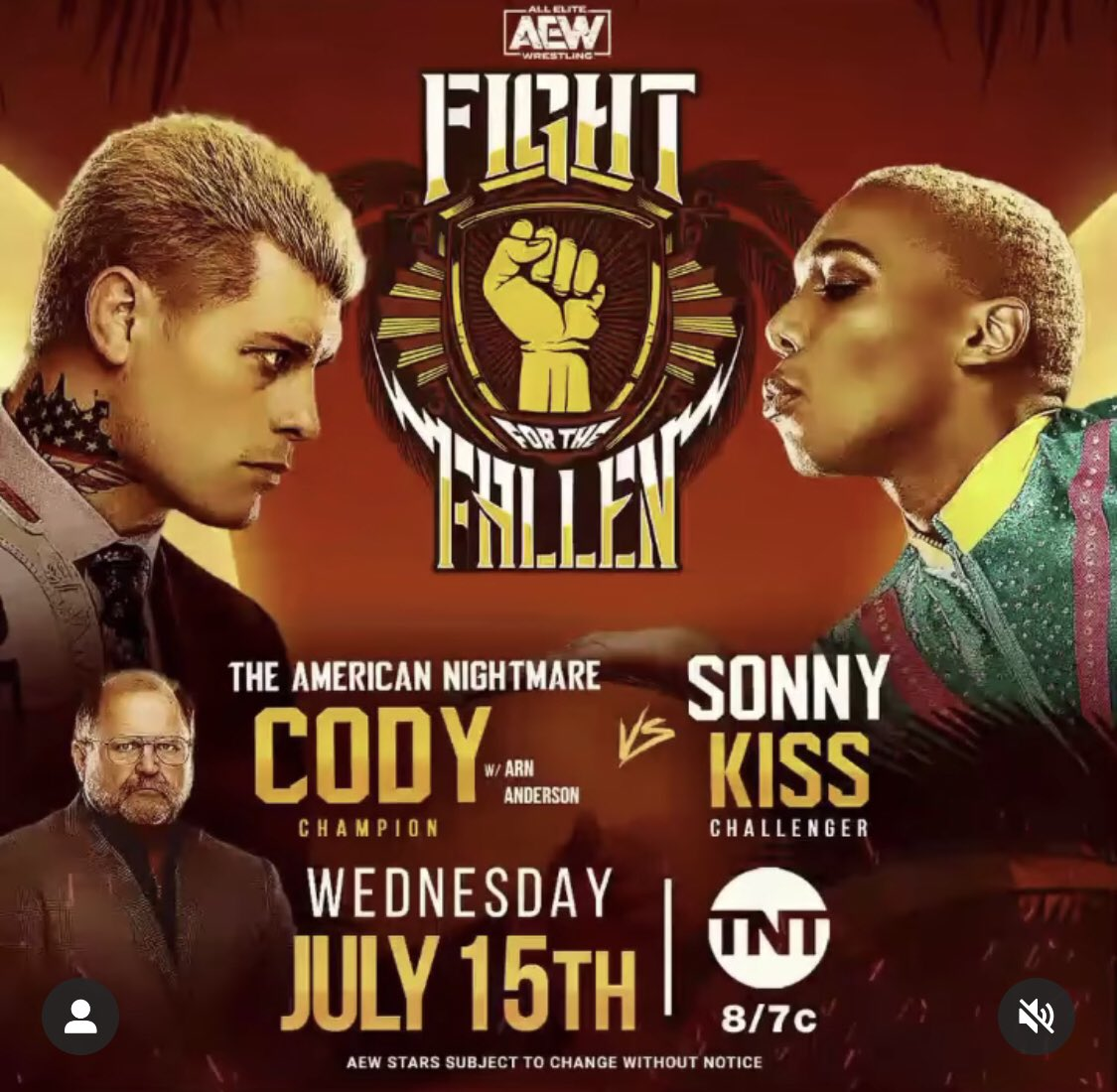 EXCUSE ME!!!! Episode with @sonnykissxo is available NOW! We focus on @sonnykissxo challenging @americannightmarecody for the @AEWrestling TNT CHAMPIONSHIP this Wed, July 15th, 8:00pm est!!
