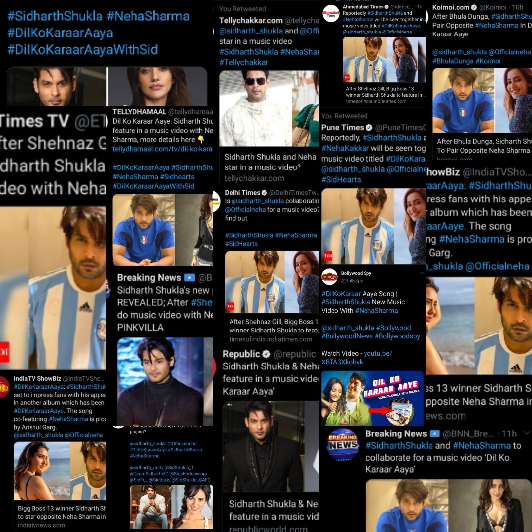 An official announcement shaked the whole news portal's.I find 15 portals may b more dan dat.@sidharth_shukla @Officialneha #DilKoKaraarAaya will ruling the media portals.without any poster seems like this after release it will be a block bluster. Sid ruling SM&news portal's too. <br>http://pic.twitter.com/XQ20jnVSJy