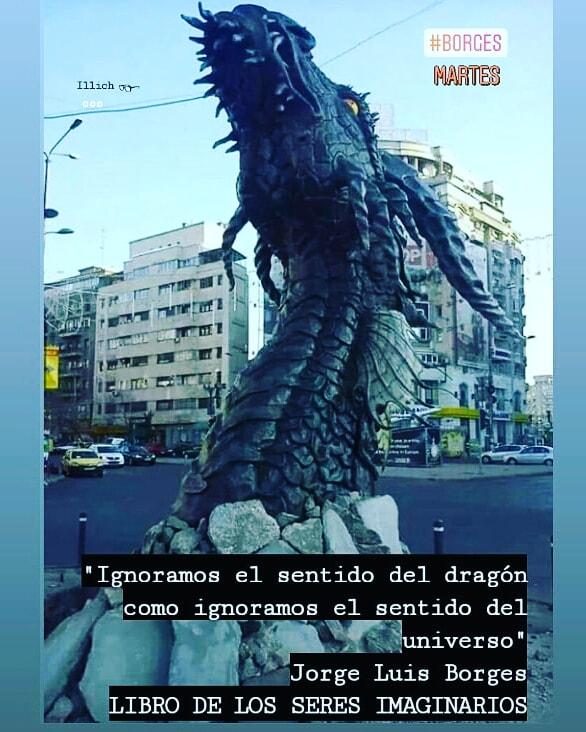 """""""Ignoramos el sentido del dragón como Ignoramos el sentido del universo""""  Jorge Luis Borges LIBRO DE LOS SERES IMAGINARIOS 🐲💭👓📚✒ #Borges  #JorgeLuisBorges #Dragón https://t.co/LmtBTW3dXC"""