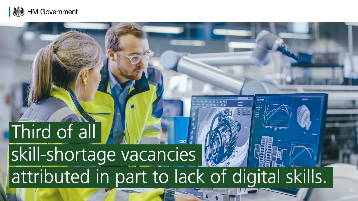 The Employer Skills Survey 2017 found that some of the most persistent skills shortages are in skilled trades, in sectors such as construction and manufacturing.   A third of all skill-shortage vacancies were attributed, at least in part, to a lack of digital skills. https://t.co/mVVkfbKOgN