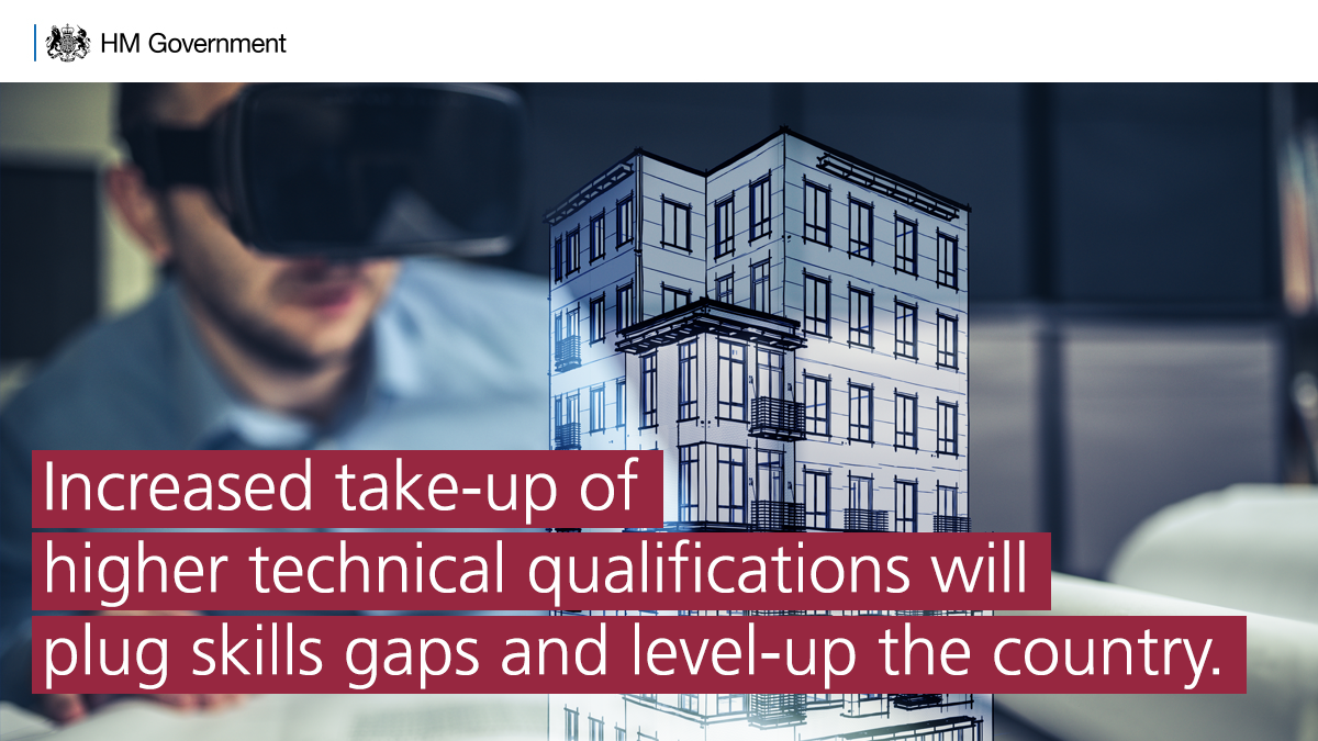 The measures announced today will boost the quality and take-up of higher technical education to help plug skill gaps, level-up opportunities and support our economic recovery. #FurtherEducation  https://t.co/gkq0bGs38d https://t.co/8QZNYG0tU0