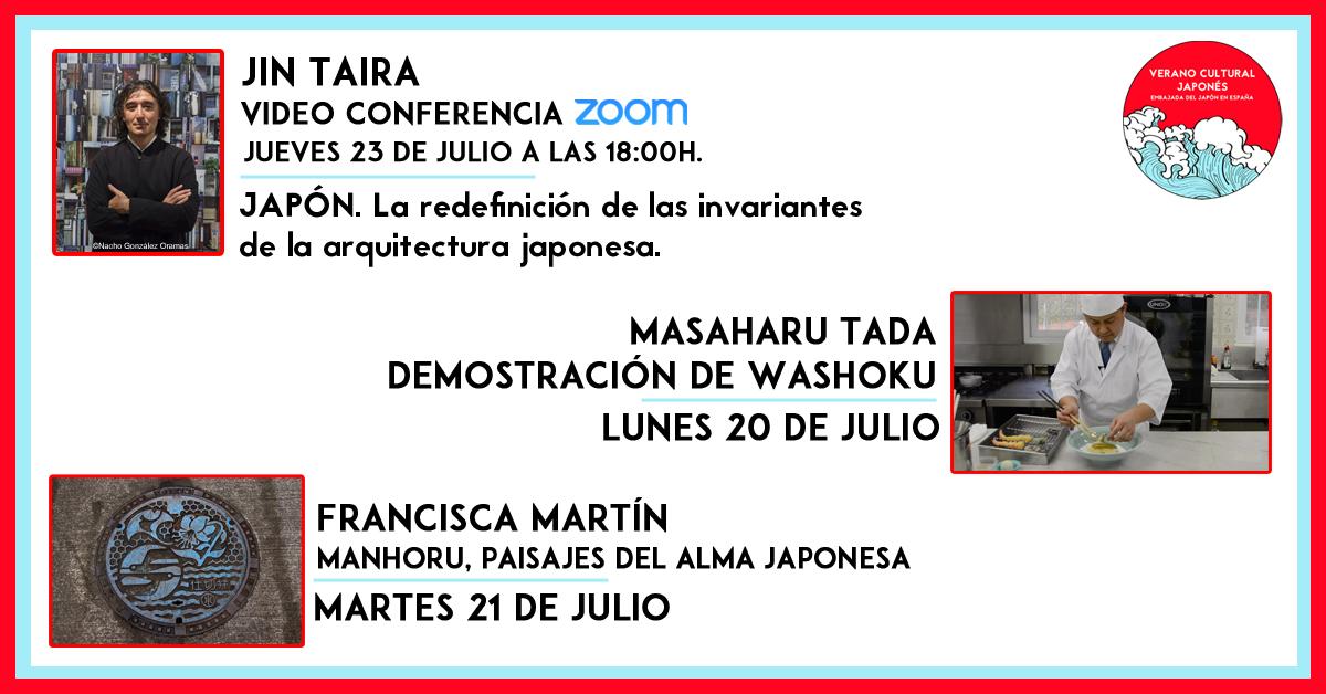 Japanemb Spain On Twitter Próximamente En Veranoculturaljaponés Conferencia Japón La Redefinición De Las Invariantes De La Arquitectura Japonesa Con Jin Taira Inscripción Disponible Próximamente Washoku Con El Chef Masaharu Tada