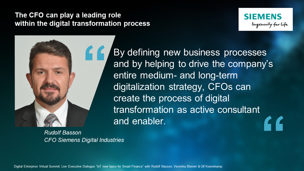 Step 1️⃣ Implement #IoT  Step 2️⃣ Get value from the data.  Learn about this and the important role the #CFO plays in #digitaltransformation during the Executive Dialog at the #DigitalEnterpriseSummit July 16 at 10:50 a.m. or 5:20 p.m. CEST https://t.co/oH2t8FfUWm @siemensindustry https://t.co/F1zXQkcrXw