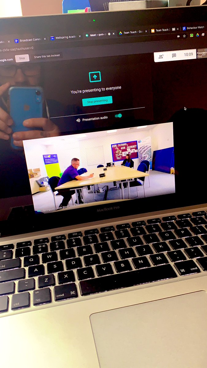 Nice to be getting to know some new starters at @Springwell_Lds North through @GoogleMeet2 breaking down the barriers #training #induction #teamteach @jonnywathen @PaulQui09851401 @PosRegardTSA https://t.co/smxmVfrrOp