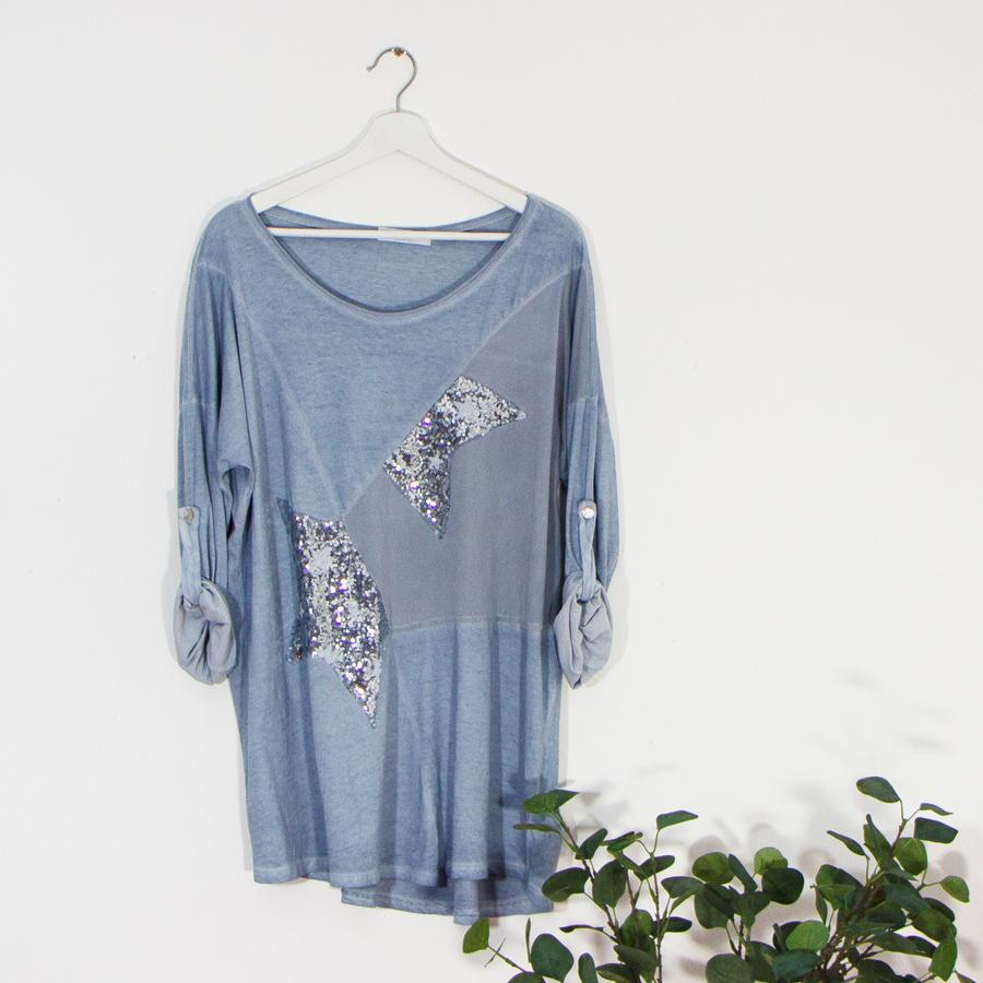 Vintage wash sequin star top #easytowear #clothing #onesize #treatyourself #giftshop #giftideas #giftshop #giftideas http://www.bippityboo.com #blue #shoplocal ONLY £26!!!pic.twitter.com/Rdj8grQ0pZ