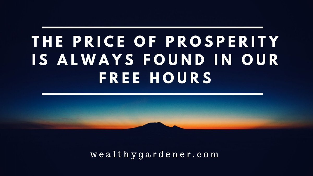 """Life Lessons on Prosperity between Father and Son #wealthy #successquotes #positive #mindset   """"The price of prosperity—the real sacrifices for wealth—is always about our free hours.""""  ––the wealthy gardener<br>http://pic.twitter.com/F8t4mTmGVZ"""
