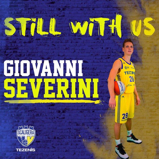 Scaligera Basket Verona: ufficiale il prolungamento del contratto con Giovanni Severini