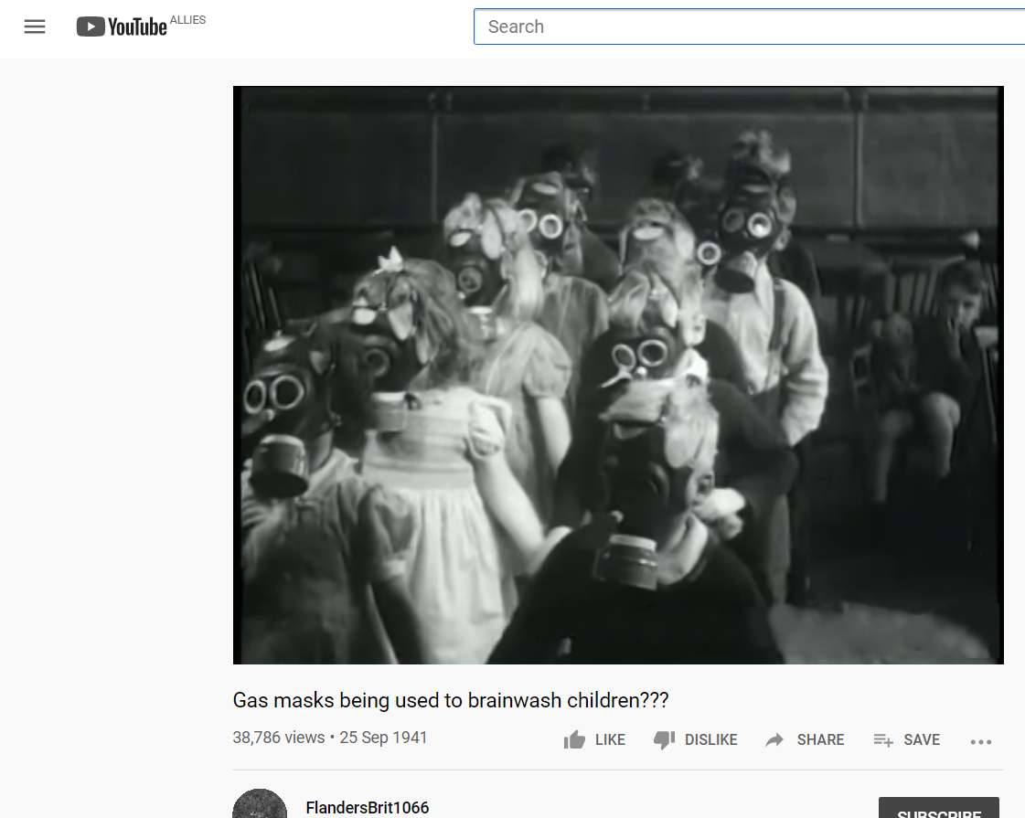 These lads that think theyd survive the Blitz but wont wear a face mask to go into Tesco, you just know that if YouTube existed during World War II then theyd actually have been sharing videos like these.