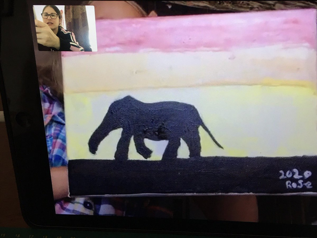 Private online art class session / observational drawing /painting - 8 yrs old 👩🏻🎓  . For art and design classes, or anything creative, contact me on:  #teaching #learning #art #artlesson #lesson #design #illustration