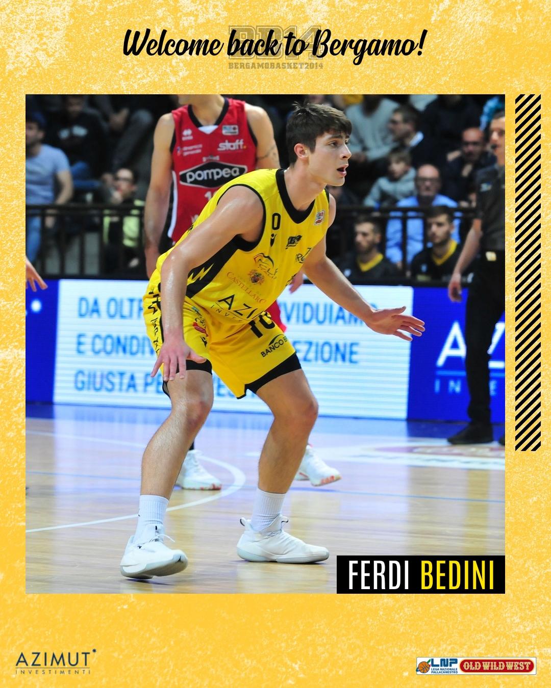 Ufficiale. Bergamo Basket ri-abbraccia Ferdi Bedini