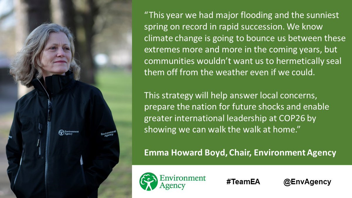 Absolutely delighted to help launch the @EnvAgency new flood strategy today. As we rebuild from Coronavirus we must be well prepared for the challenges of #climatechange.  #FCERMStrategy @COP26 @theCCCuk @GCAdaptation  Read it here: https://t.co/0twXNEZvCW https://t.co/rFIiuXAqSj