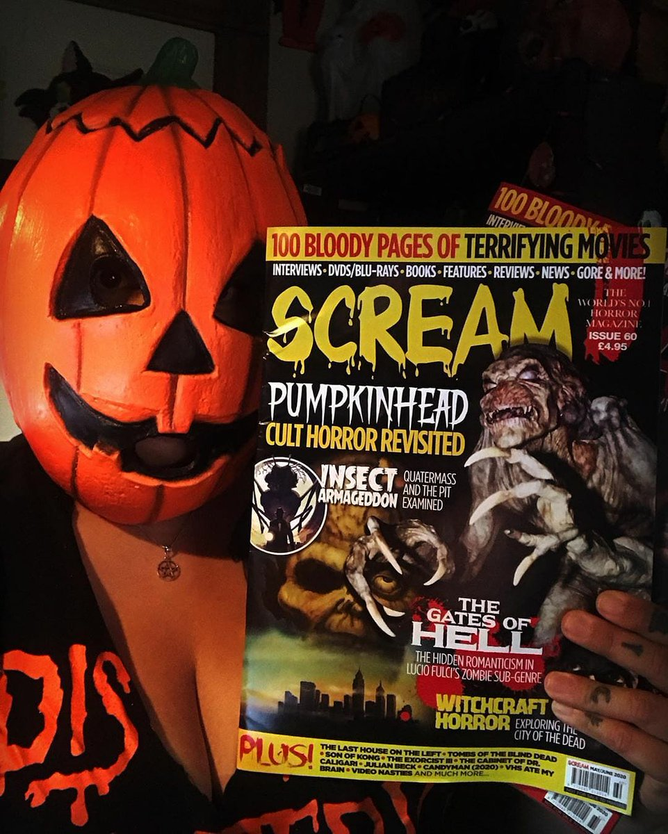 Subscribe to SCREAM MAGAZINE... 100 pages in full BLOODY colour delivered to your door anywhere in the world... 🎃 #HorrorMovies #HalloweenKills #HalloweenEnds #MichaelMyers   https://t.co/OwiU7stNex https://t.co/kvNHmYidNK