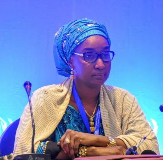@sadiya_farouq has shown us wisdom in handling complex humanitarian issues. She is a workaholic who is fearless and goes for bigger things . Without her the groundbreaking ceremony of the 10000 units of housing project for IDPs in Ngom, Borno won't have been possible #FMHDSD<br>http://pic.twitter.com/Acqwyf4pz3