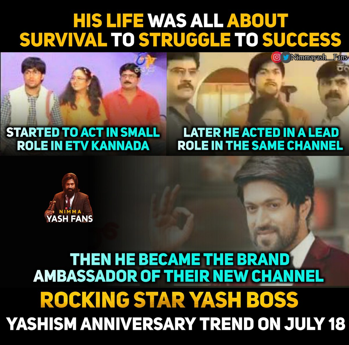 4 Days To Go For #yashismanniversary Trend  Follow :- @nimmayash__fans  Follow :- @nimmayash__fans  #Yash #Yashboss #twittertrends #KGF #twitter #trend #success  #KGFChapter2 #KGFChapter1 #KGF2 #yashism #colors #ambassador #brand #Rocky #rockybhaiyash #rockyera #rockybhaipic.twitter.com/hEvFDbMeDv