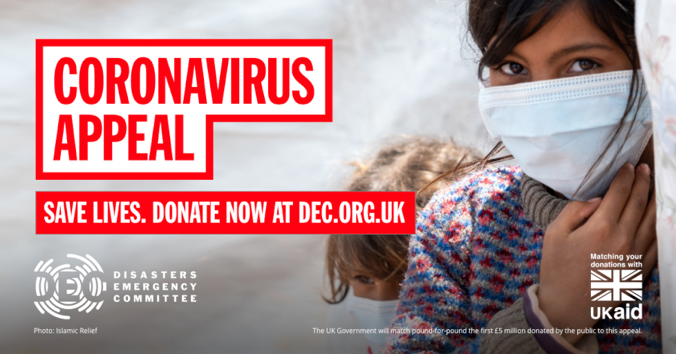 The DEC is launching an urgent appeal to help people living in refugee camps and fragile states face coronavirus, which is likely to be even more deadly there than it was here. You can help families protect themselves. Donate now:  #DECappeal