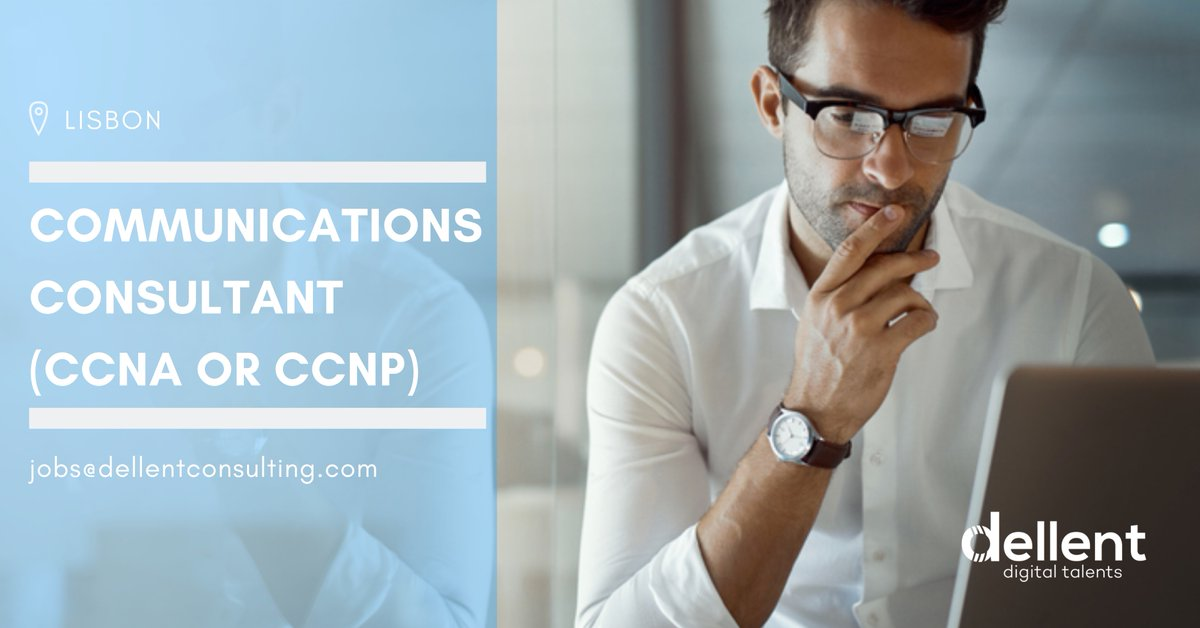 Do you have experience in Cisco (CCNA or CCNP) and are looking for a new challenge Lisbon?  Then, we have the ideal project for you. Send us your CV to jobs@dellentconsulting.com and we'll contact you with more information. #career #dellentteam #technology #itpic.twitter.com/NsobAOUjPw