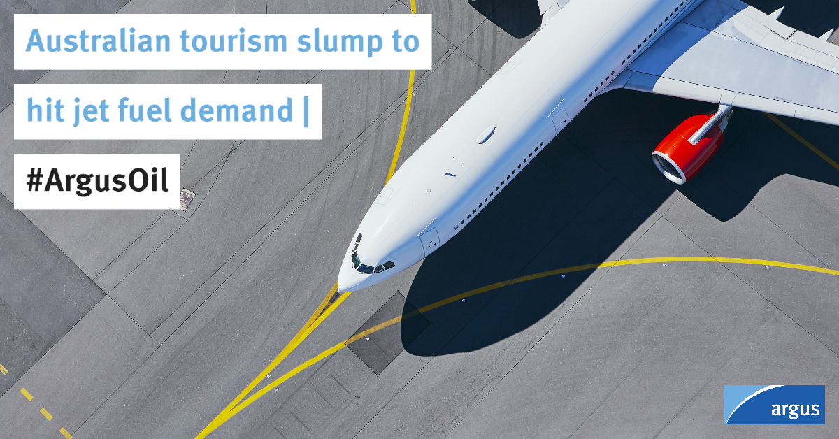 Australia's tourist numbers are on course to hit a seven-year low in the July 2019 to June 2020 fiscal year, indicating further weakness in #jetfuel demand   #ArgusOil#Aviation  Reports Kevin Morrison: https://t.co/iXVvpgPWEd https://t.co/fMpJ82U2Cs