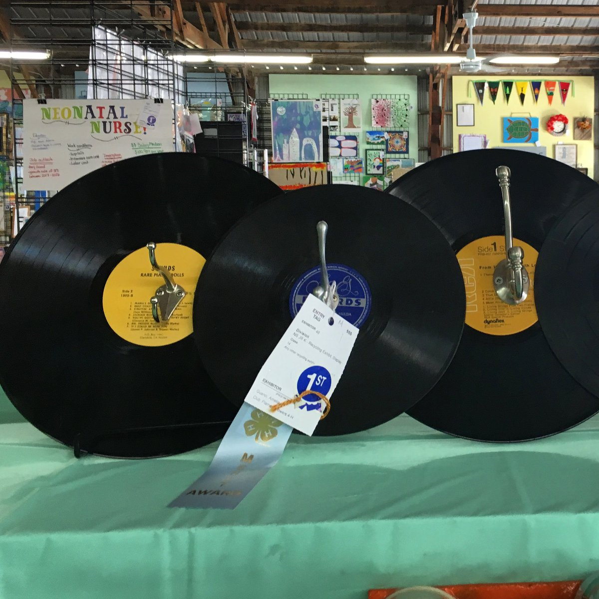A new spin on repurposing. Check out Junior Class exhibits at #walcofair2020 #sept2thru7 #elkhornwi https://t.co/bMMG6QGkiw