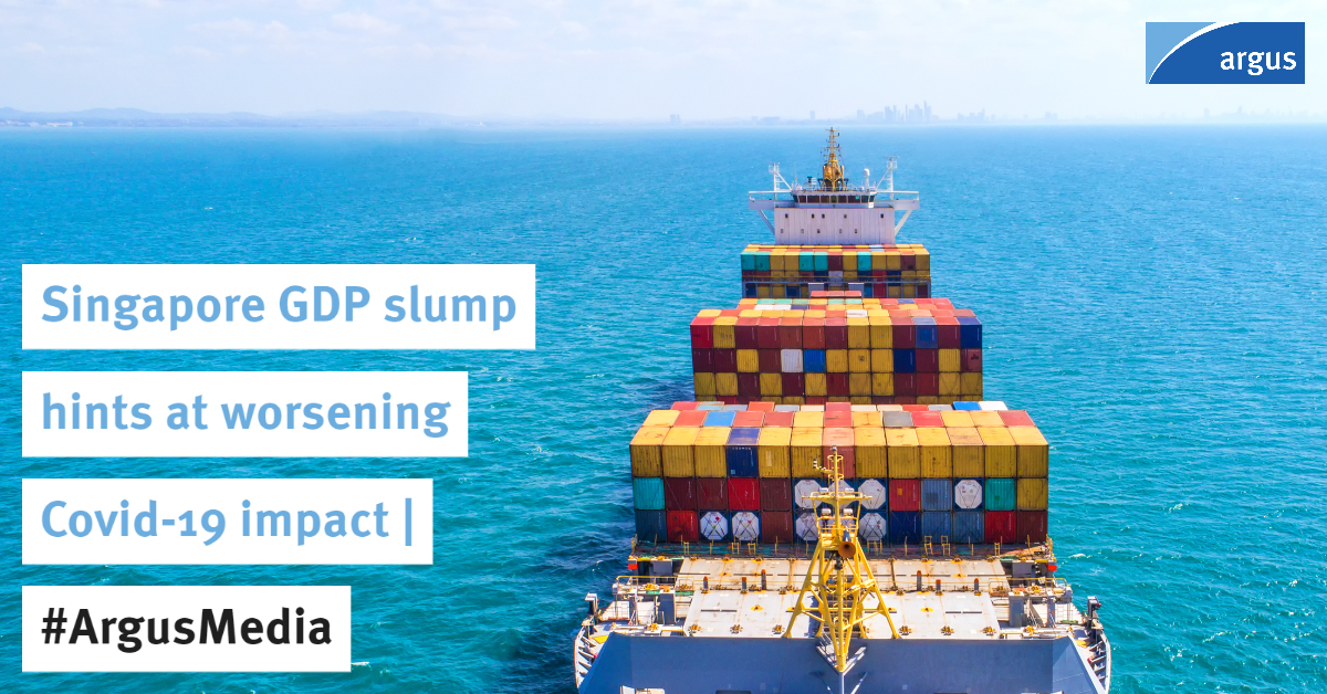Singapore's GDP shrunk by more than predicted in the second quarter, hinting that the impact of the #Covid19 pandemic on the region could be worse than expected   #ArgusMedia#shipping#OOTT  Story: https://t.co/k34DPo1U7B  For select coronavirus news: https://t.co/gAh8OrYhEz https://t.co/ZhLQqHXGgI