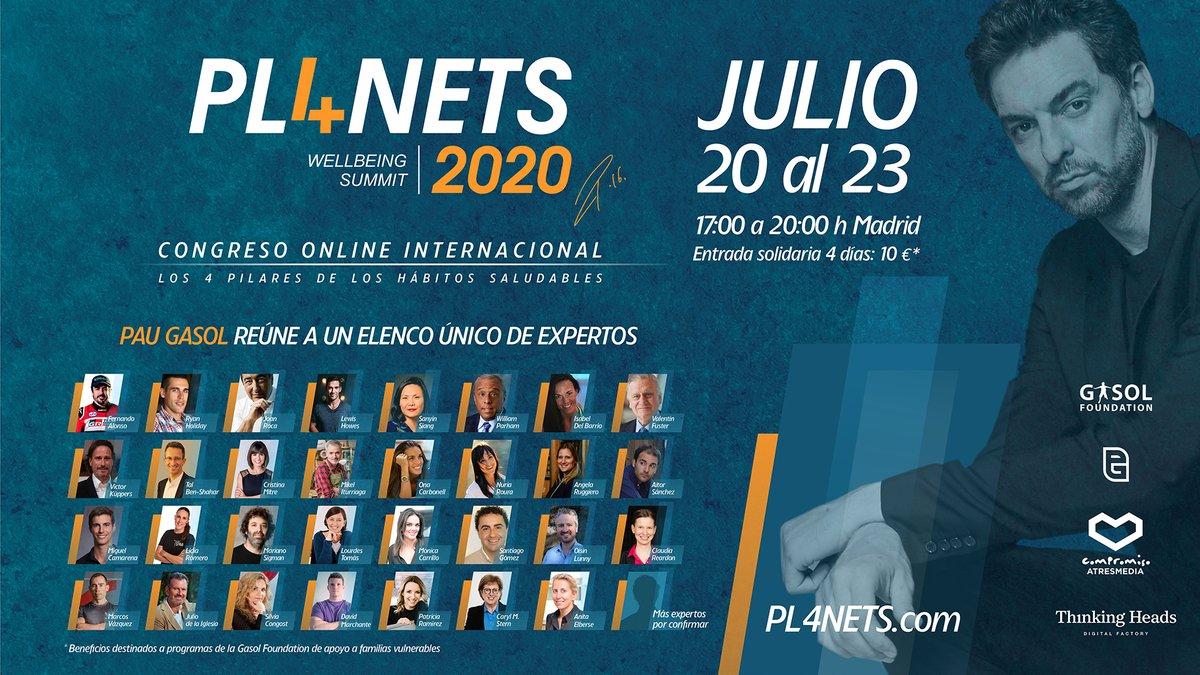 #PL4NETS es un summit online solidario y de alcance global, dirigido a promover hábitos de vida saludables 🧘♀️ 🥗 con estrellas del #deporte, así como los profesionales que les rodean ➡️ https://t.co/ieuzaWPrbz https://t.co/Hdjk52EQLz