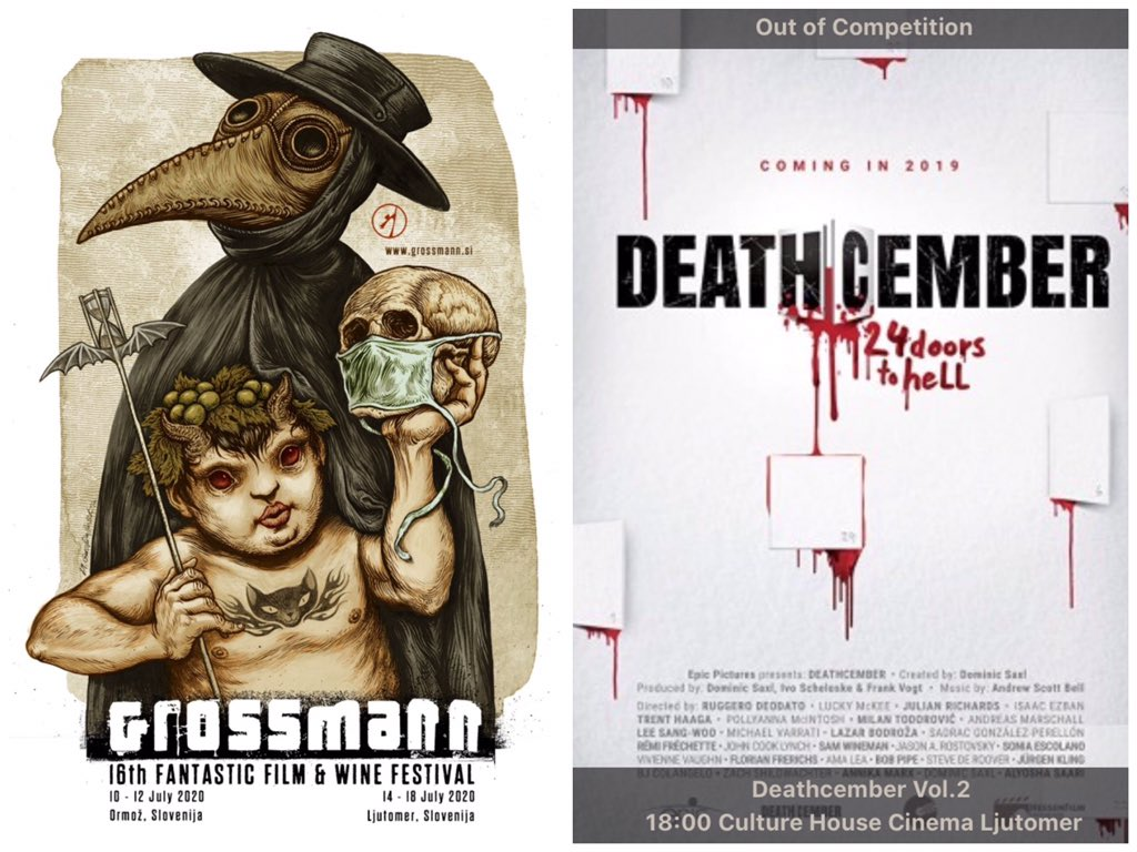 Today at 18:00! #DEATHCEMBER at @GrossmannFest in Ljutomer, Slovenia. Intro by Ivo and Dominic 🎅 #deathcembermovie #grossmann #grossmannovfestival #slovenia #filmfestival #filmfest #adventcalendar