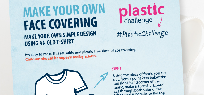 With the recent news that well soon need to wear #facecoverings when visiting the shops, why not help cut down on single-use plastic and have a go at making your own re-usable one? Heres our handy #howto guide -> mcsuk.org/media/facemask… #PlasticChallenge #PlasticFreeJuly