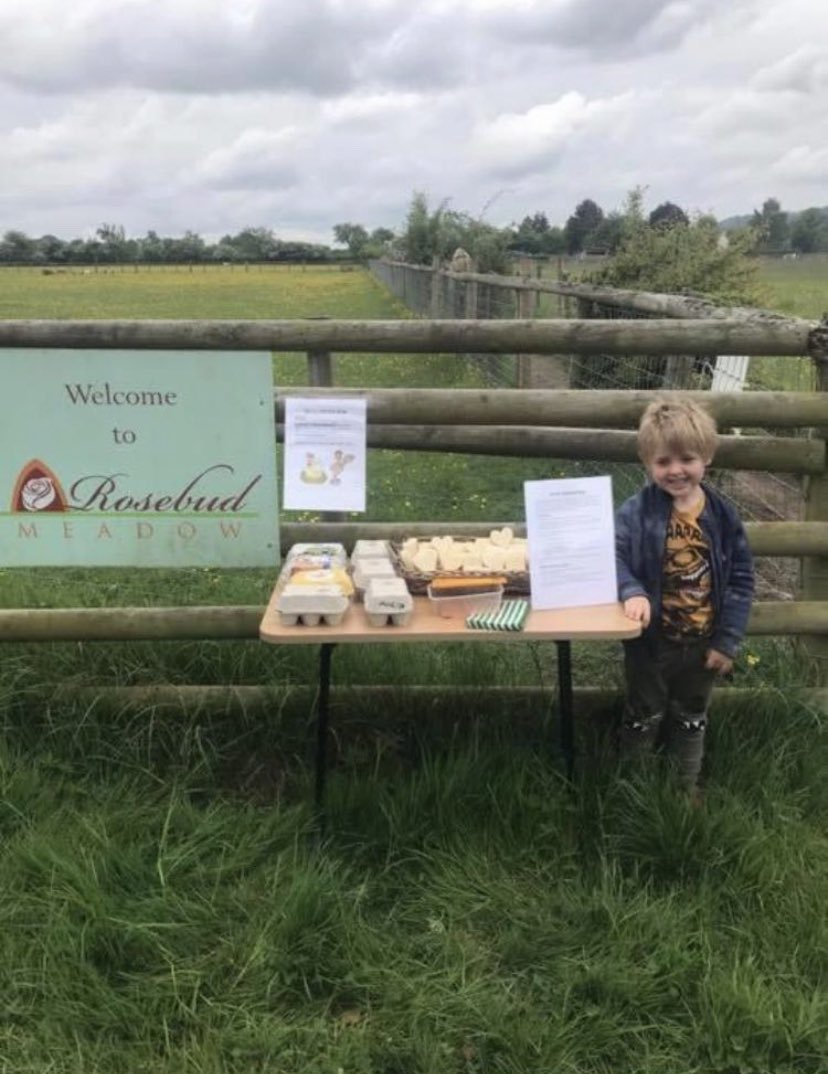 This is Harry - he is 5 and runs a little honesty shop near to my Saleroom. Someone has stolen his money and his stock. They will probably be too ashamed to return either but if they get to read this I hope it costs them a few nights sleep.