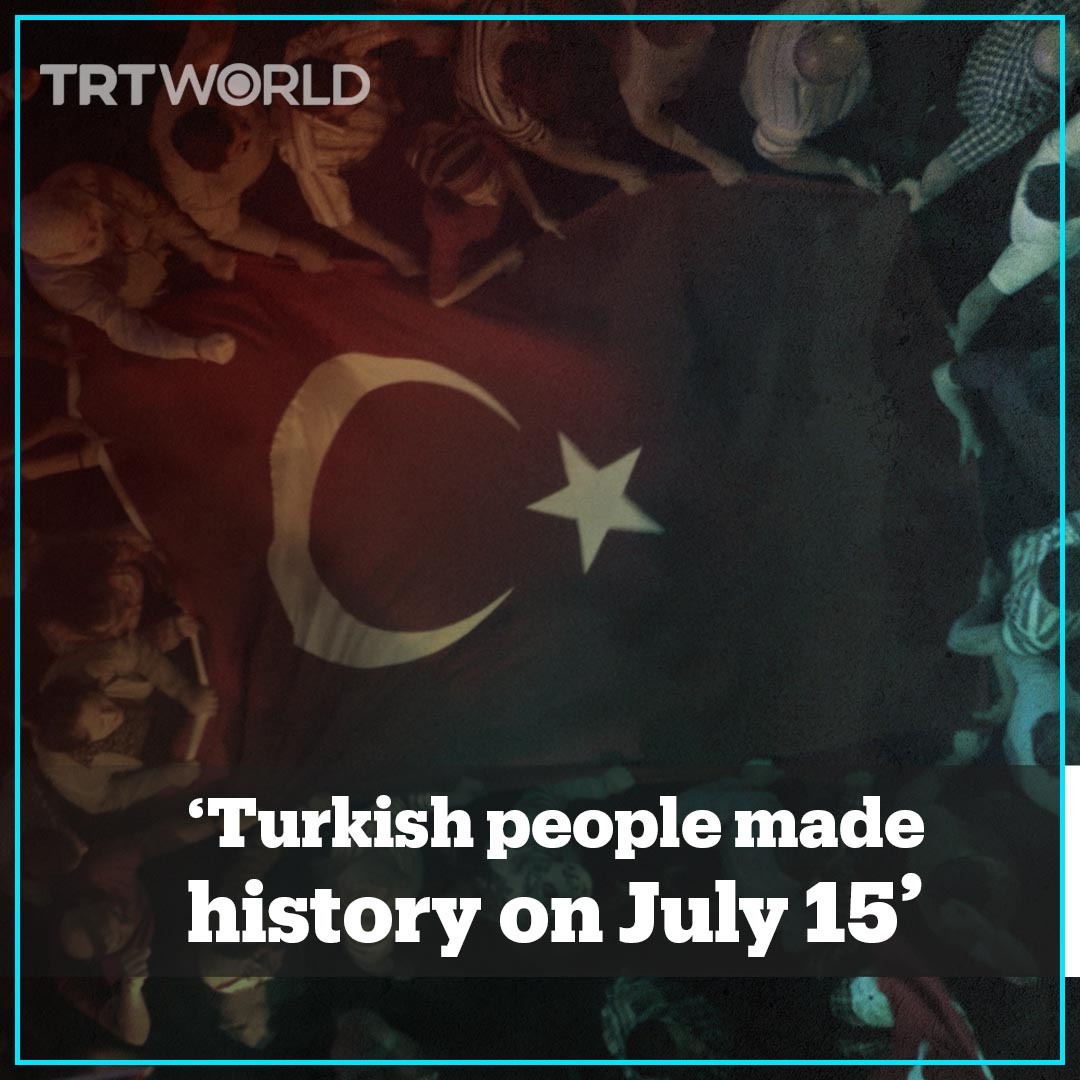 """""""That night, the #Turkish nation, young and old alike, all united for democracy and the future of their country.""""  #Turkey's Communications Directorate has released a video tribute to victims of the coup attempt on July 15, 2016.  Via @trtworldpic.twitter.com/YOjF1nWATk"""