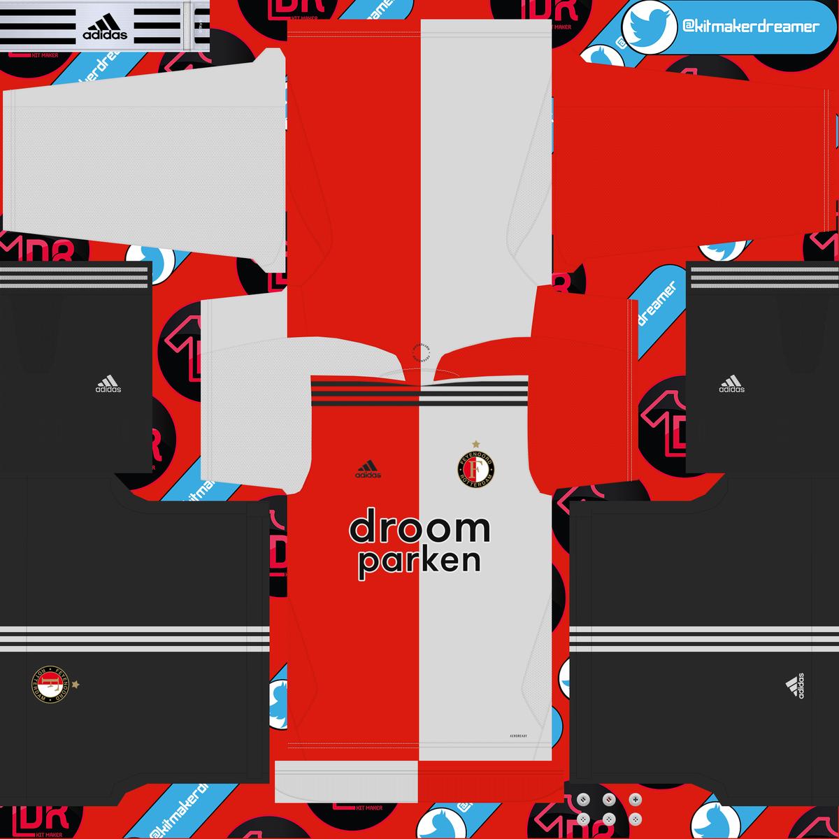 Kits Efootball Pes2021 On Twitter Kitmaker Kitmakerdreamer Kit Feyenoord 2020 2021 Efootball2020 Pes2020