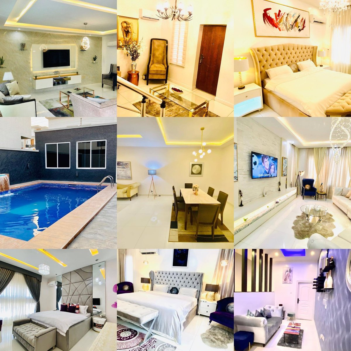Shortlet home 3 bedroom luxury duplex for your, BIRTHDAY CELEBRATIONS🎂 WEEKEND GETAWAY🏖 GET TOGETHER👭 PHOTOSHOOT📸 VIDEOSHOOT🎥 QUALITY TIME WITH BAE👫 BRIDAL/BABY SHOWER👰  Send a DM or click the link on my bio to see the available dates left for July.. Pls help me retweet🙏🏼 https://t.co/2vtS0SqIjG