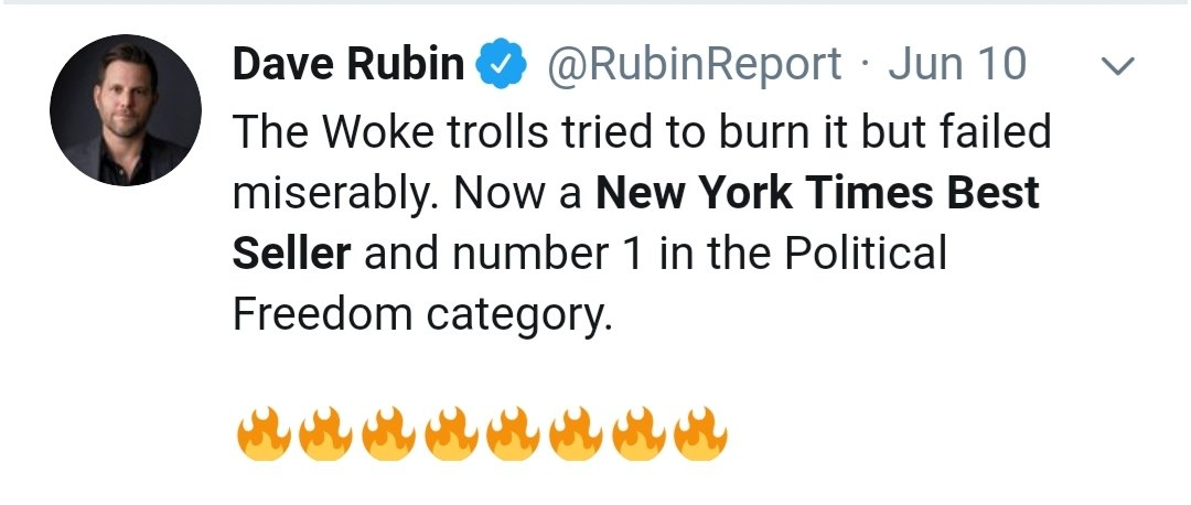 Dave Rubin going after himself in this one.